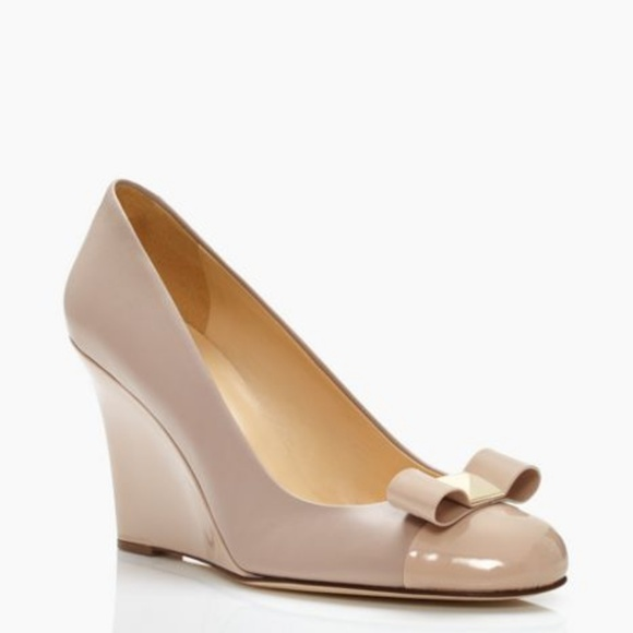 2119f26dd961 kate spade Shoes - Kate Spade - Kalle Wedge Nude Bow Heels